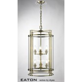 Diyas Eaton Pendant 6 Light Antique Brass