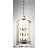 Diyas Eaton Pendant 12 Light Antique Brass