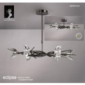 Eclipse Pendant 6 Light Black Chrome (Semi flush Convertible)