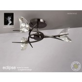 Eclipse Semi Flush 3 Light Black Chrome