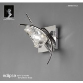 Eclipse Wall Lamp 1 Light Polished Chrome