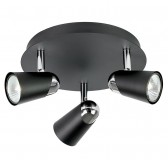Enluce Elegant Black Three Spot Light