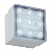 IP67 Square LED Recess Wall Light - White