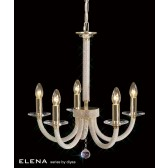 Diyas Elena Pendant 5 Light Gold Plate