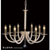 Diyas Elena Pendant 8 Light Gold Plate