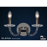 Diyas Elena Wall Lamp 2 Light Black Chrome