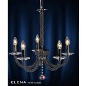 Diyas Elena Pendant 5 Light Black Chrome