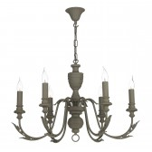 Emile 6 Light Pendant Mole Brown