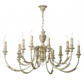 Emile 12 Light Pendant Rustic French