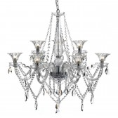 Dar Emma 9-Light Pendant Clear