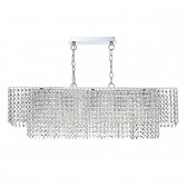 Ennis 5 Light Bar Pendant Polished Chrome Clear