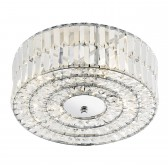 Errol Ceiling Light - 4 Light Crystal Semi Flush