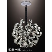 Diyas Esme Pendant 12 Light Polished Chrome/Crystal