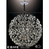Diyas Esme Pendant 42 Light Polished Chrome/Crystal