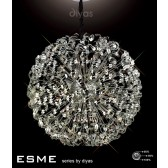 Diyas Esme Pendant 54 Light Polished Chrome/Crystal