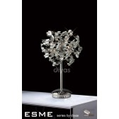 Diyas Esme Table Lamp 5 Light Polished Chrome/Crystal