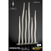 Estalacta Floor Lamp 6 Light Bar Silver/Opal White Indoor