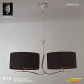 Eve Pendant 4 Light Polished Chrome With Black Shade