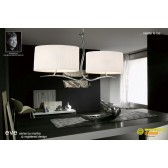 Eve Pendant 4 Light Polished Chrome With White Shade