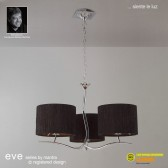Eve Pendant 3 Light Polished Chrome With Black Shade