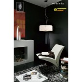 Eve Pendant 3 Light Polished Chrome With White Shade