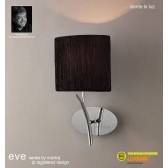 Eve Wall 1 Light Polished Chrome With Black Shade