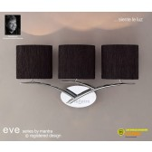 Eve Wall 3 Light Polished Chrome With Black Shade