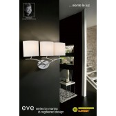 Eve Wall 3 Light Polished Chrome With White Shade