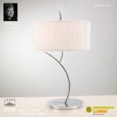Eve Table 2 Light Polished Chrome With White Shade