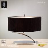 Eve Table 2 Light Polished Chrome With Black Shade