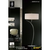 Eve Floor 2 Light Polished Chrome With White Shade