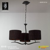 Eve Pendant 3 Light Antracite With Black Shade