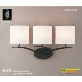 Eve Wall 3 Light Antracite With White Shade