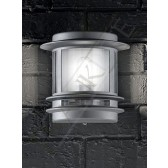 Franklite Exterior Barbican Flush Wall Light - IP44, Silver Grey