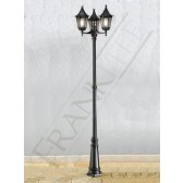 Franklite Boulevard Lamp-Post - 3 Light, Matt Black, Cast Aluminium, IP44
