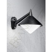 Franklite Sera Exterior Wall Bracket - 1 Light, Matt Black, IP43
