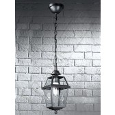 Franklite Nerezza Exterior Hanging Lantern - Die-Cast Aluminium, Dark Grey