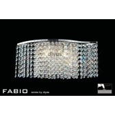 Diyas Fabio Wall Lamp 2 Light Polished Chrome/Crystal Switched