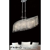 Diyas Fabio Pendant 5 Light Polished Chrome/Crystal