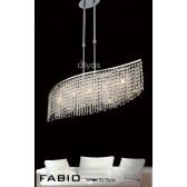 Diyas Fabio Pendant 5 Light Polished Chrome/Crystal