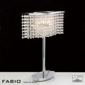 Diyas Fabio Table Lamp 2 Light Polished Chrome/Crystal