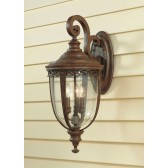 Feiss FE/EB2/L BRB English Bridle 3 - Light Large Wall Lantern British Bronze