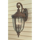 Feiss FE/EB2/XL BRB English Bridle 4 - Light X Large Wall Lantern British Bronze