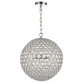 Fiesta Ceiling Pendant (35CM) - 5 Light, Polished Chrome
