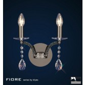Diyas Fiore Wall Lamp 2 Light Black Chrome