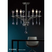 Diyas Fiore Pendant 4 Light Black Chrome