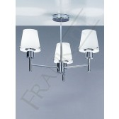 Franklite Turin Ceiling Light - 3 Light, Chrome, Opal Glass