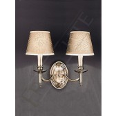Franklite Petrushka Double Wall Light - Bronze, bracket only