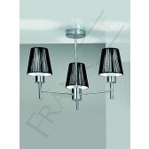 Franklite Zing Semi Flush Ceiling Light - 3 Light, Chrome, Shades sold Separately