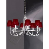 Franklite Carousel Ceiling Light - 8 Light, Chrome, Shades sold Separately